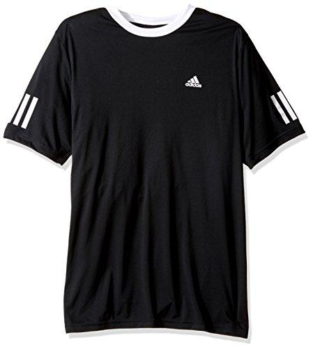 adidas Boys Tennis Club Tee, Black, (Youth Tennis Apparel)