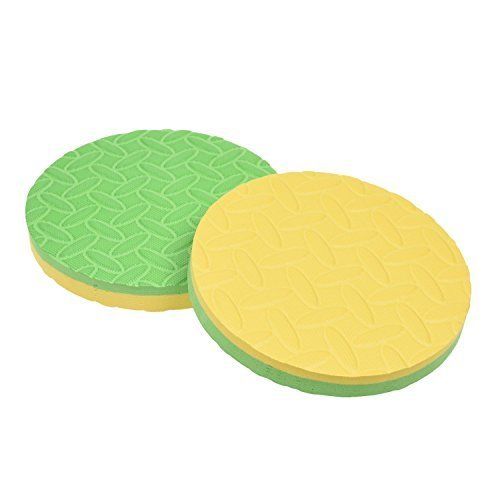 WT-PP ® Pack of 4 Round Workout Foam Pad Cushion for Yoga Eliminate Knee Wrist Elbow Pain For Sale