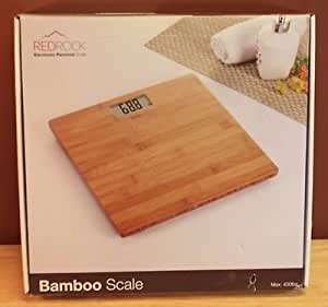 NEW REDROCK BAMBOO BATHROOM DIGITAL SCALE BLUE BACKLIGHT MAX 400 LB