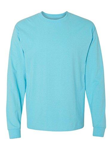 Blue Horizon Long Sleeve (Hanes Long Sleeve Beefy-T T-Shirts Blue Horizon, Large)