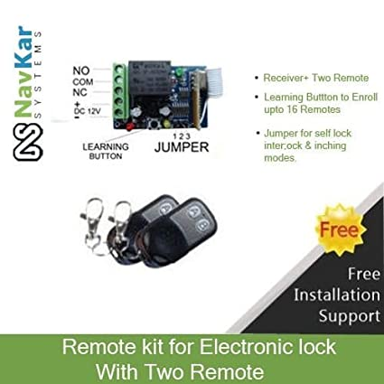 NAVKAR Remote Kit for Open Electronic Door Lock (with 2 Remote)