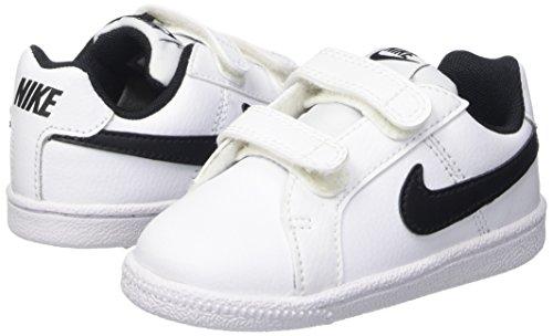 Nike Court Royale (TDV), Zapatos de Recién Nacido Unisex Bebé, Blanco (White/Black), 22 EU