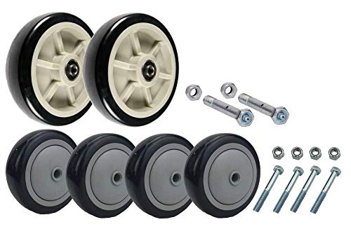 (U-Boat Stock Cart - Platform Truck Replacement Wheel and Axle Kit)