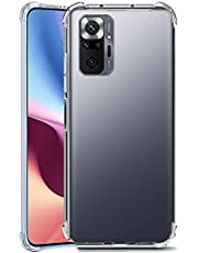 جراب هاتف Xiaomi Redmi Note 10 Pro / Redmi Note 10 Pro Max من السيليكون الشفاف TPU مضاد للصدمات ويحمي الكاميرا من الصدمات 4 زوايا - شفاف