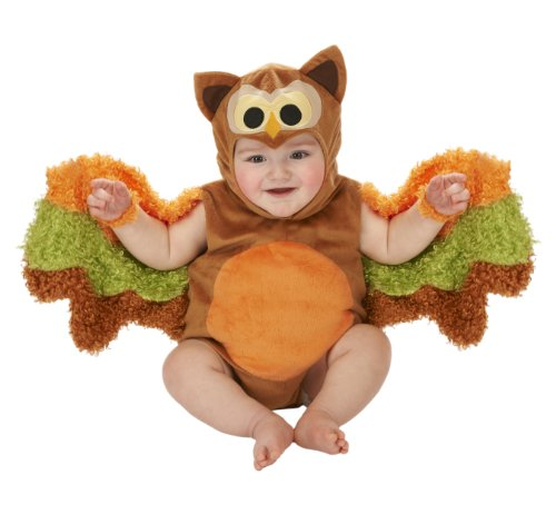 [Just Pretend Kids Infant Romper, 0-6 Months, Owl] (Infant Owl Halloween Costumes)