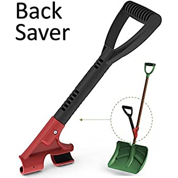 The Heft Secondary Back Saver Grip Handle for Snow Shovels and Garden Tools (1, Standard)