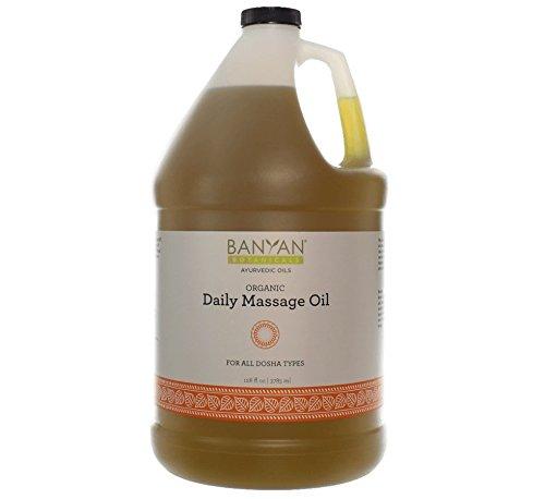 Banyan Botanicals Daily Massage Oil - Certified Organic, 128 oz - Balances All Three Doshas - Vata, Pitta, Kapha* by Banyan Botanicals