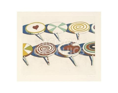 """McGaw Graphics Big Suckers, 1971 by Wayne Thiebaud, Art Print Poster, Paper Size 11"""" x 14"""" Image Size 8.25"""" x 10""""(1683)"""