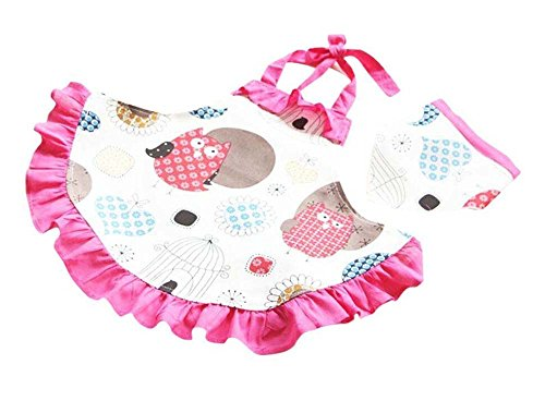 CRB Fashion Girls Cooking Kids Toddler Chef Apron Head Piece (2T to 3T) - Little Girl Chef Costume