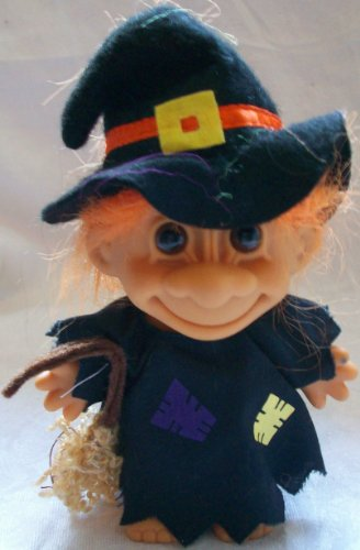 Russ Berrie Good Luck Troll Orange Hair Witch Costume Halloween , 3