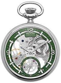 [エポス] メンズ レディース 懐中時計 ポケットウォッチ 手巻き POCKET WATCH スケルトン Skeleton 2003AGR 緑 グリーン