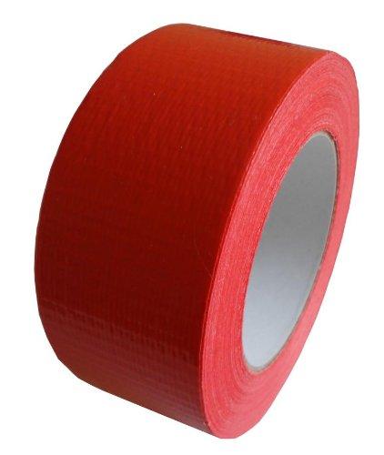 1 Rotolo Nastro adesivo Nastro adesivo in tessuto Cinghiaggio Nastro piatto 50m X 48mm rosso Livepac Office 125123
