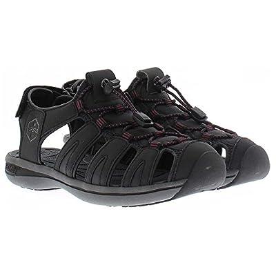 Khombu Womens Ashley Adjustable Active Sandal (Black, 9)   Sport Sandals & Slides