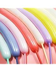 بالونات طويلة من غواسلي لحيوانات البالونات الملتوية - 100 قطعة من البالونات الملونة بحلوى الماكرون 260Q طقم بالونات السحرية اللاتكس للحفلات والمهرجين وحفلات الزفاف والمهرجانات وأنشطة الديكور