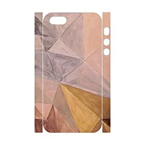3D Hand Drawn Abstract Triangle Shapes IPhone 5,5S Case, Iphone 5s Case Cheap Protector Cute Cathyathome - White