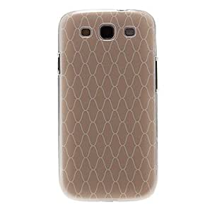 GONGXI-Patrón Grillado cubierta del estuche duro de protección de plástico para el Samsung Galaxy S3 I9300