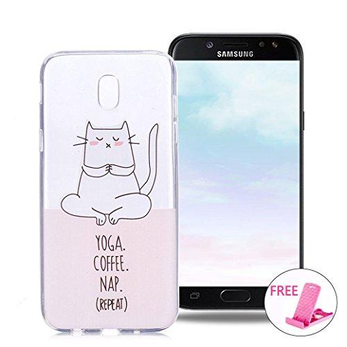 AllDo Funda Samsung Galaxy J7 2017 SM-J730F Carcasa Transparente Funda de Silicona TPU Caja Flexible Suave Carcasa Transparente Claro Funda Ultra Delgado Ligero Transparent Crystal Clear Case Cover Ca