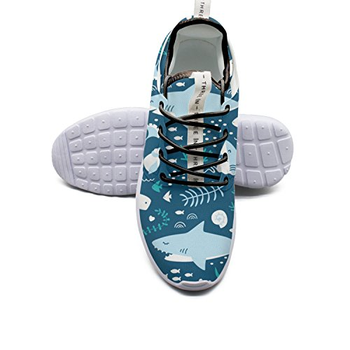 Casual Plate Shoes Happy Sharks By Modern Breathable Mesh Athletic - Jose San Hockey Socks Sharks