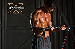 XBAR Fitness Complete 9-Piece Portable Personal Workout System with Bodylastics Resistance Bands