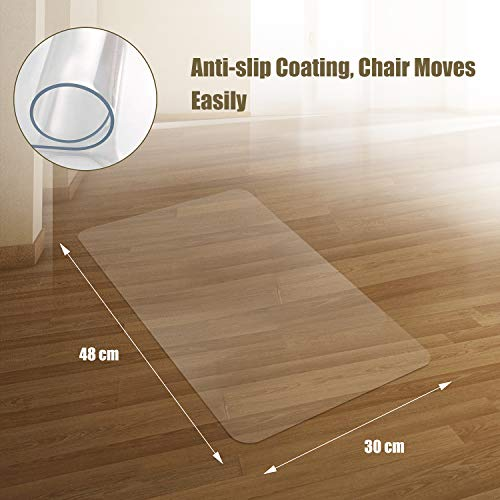 Kuyal Clear Chair Mat, Hard Floor Use, 30'' x 48'' Transparent Office Home Floor Protector mat Chairmats by Kuyal (Image #4)