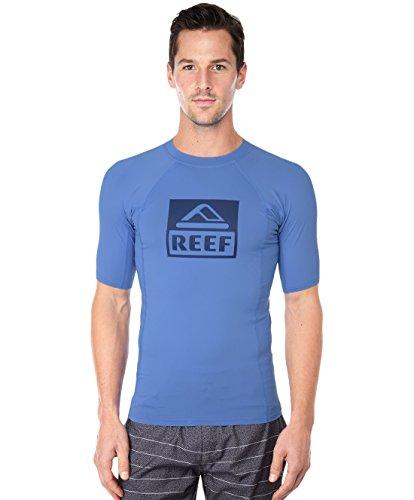 Reef Men's Logo Rashguard 4 Blue Rash Guard Shirt MD