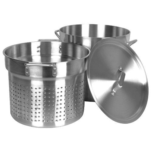 (Thunder Group 20 Quart Aluminum Pasta Cooker, Mirror Finish )