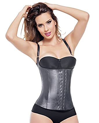 Ann Michell Semi Vest Latex Waist Cincher (38, Black)