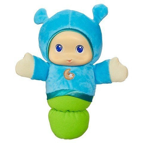 Playskool Play Favorites Lullaby Gloworm Lights up Musical Toy - Blue (Playskool Bear)