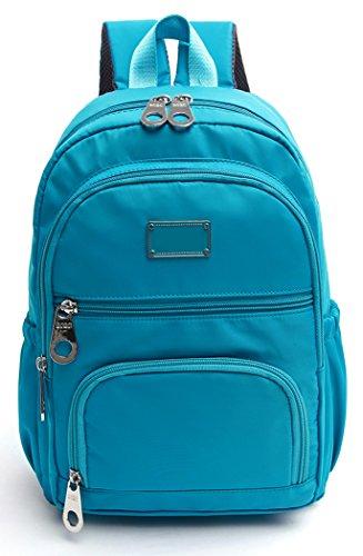 Women's Canvas Travel Bag Student Drawstring Bucket Backpack (Beige) - 3