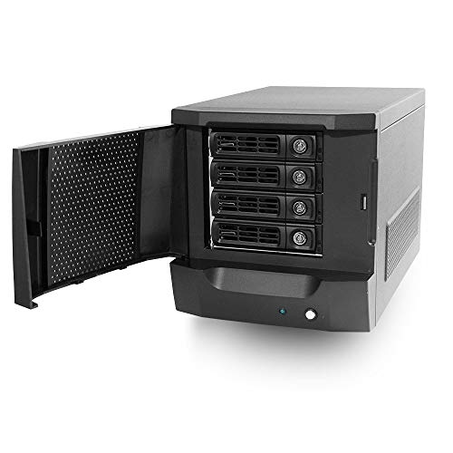 Morex SR7879-200W Mini ITX NAS Chassis w/ 4 x 3.5 Drive Bays, 200W Flex ATX Power Supply (Best Mini Itx Nas Case)
