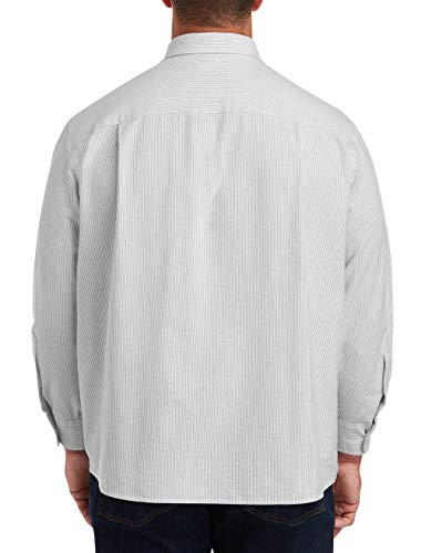 Amazon Essentials Men's Big & Tall Long-Sleeve Pocket Oxford Shirt fit by DXL