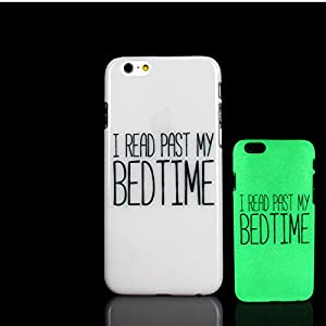 iPhone 7 Case, Bedtime Design Aphorism Phrase Pattern Glow in the Dark TomCase Fluorescent Back Cover for iPhone 7 Case 4.7 inch, P16