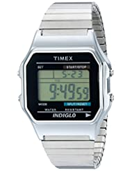 Timex® Men's Classic Digital Silver-Tone Expansion Band Watch #T78587