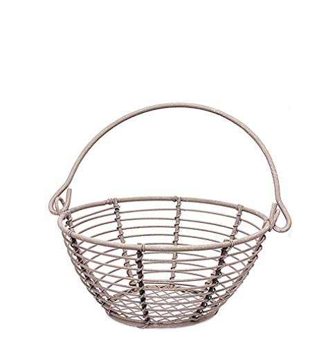 The Bridge Collection Rustic Brown Metal Wire Basket, 5''