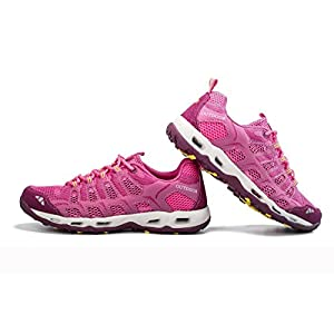 TZTONE Quick-Dry Hiking Shoes Mountaineering Shoes For Girls Outdoor Walking Sneakers HS666-126-Rosered-36