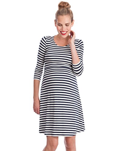 Seraphine Striped Maternity & Nursing Dress