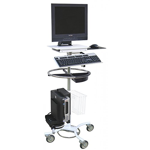 Computer Security Cart - Omnimed 350718 Computer Security Cart with Cord Reel