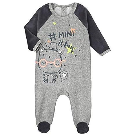 379f1c77308bd Pyjama bébé velours Mini Boy - Taille - 3 mois (62 cm)  Amazon.fr ...