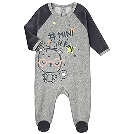 a1bcc7f64f3ff Pyjama bébé velours Mini Boy - Taille - 3 mois (62 cm)  Amazon.fr ...