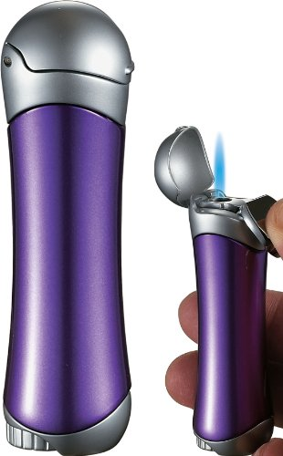 Visol Violet Satin Purple and Chrome Lighter for Women by Visol