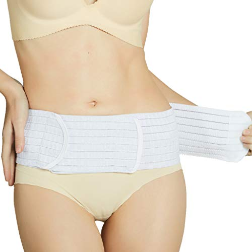 Neotech Care 3-in-1 Maternity Pregnancy Support, Postpartum Belly Wrap & Pelvis Belt/Brace / Band - Breathable Girdle - Beige - Large Size by NeoTech Care (Image #10)
