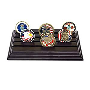 4 Row Challenge Coin Holder, Military Coin Display Stand by amzcoin