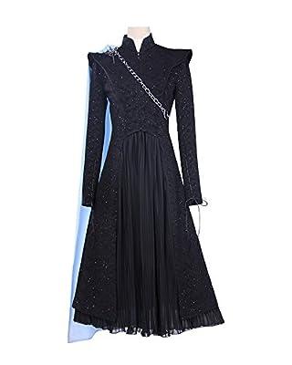 Women Black Mother Queen Dress Daenerys Dragon Cosplay Costume