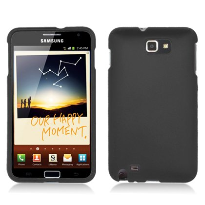 FOR Samsung N7000 I717 Galaxy Note Accessory - Black Hard Protective Case Cover + Lf Stylus Pen