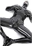 BERMEL Men's Sexy Chastity Zentai Leather