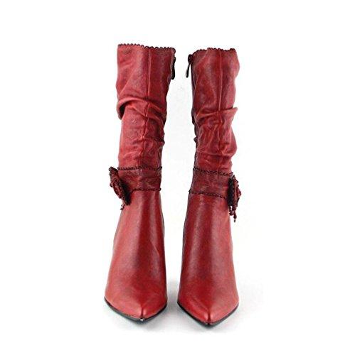 Rot und Halten Kaschmir Ritter Bowknot Spitz Plus Künstliche Damen Stiefel Kurze High Herbst Retro Zipper Warm Heels Winter Stiefel BOTXV vSgOYwqB7v