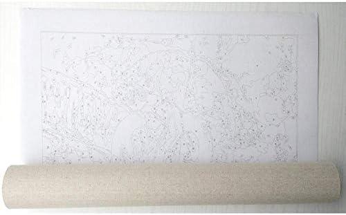 Schilderen op nummer SFBBBO Schilderen Nummers Zonsondergang Landschap Schilderen Kalligrafie Muur Canvas Schilderij Voor Home Decor 60x75cmnoframe