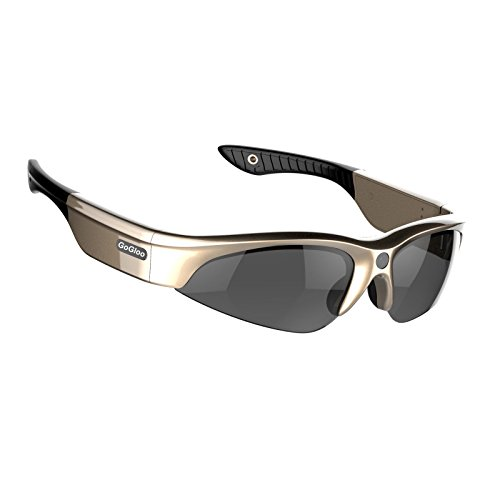 Gogloo Golden 8GB H.264 MP4 1080P HD Sport Polarized Sunglasses with Camera DV, Camera Sunglasses (1080P@30fps, - Mp4 Sunglasses