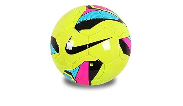 Nike Balón de fútbol 5 Beach Premier Team, Hot Lime/Pink Flash ...