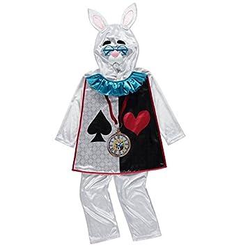 Officially Licensed Disney Alice In Wonderland White Rabbit Fancy Dress 7 8  Years Childrenu0027s Costume
